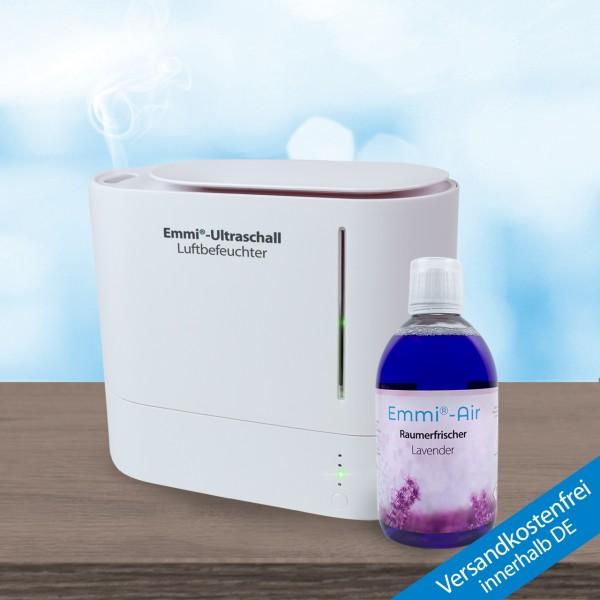 Ultraschall Luftbefeuchter *oval* + Raumerfrischer Lavender