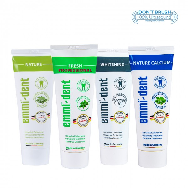 Ultraschall Zahncreme - Probier-Set 4