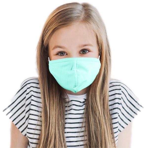 Kinder Mund- und Nasenmaske *mint*