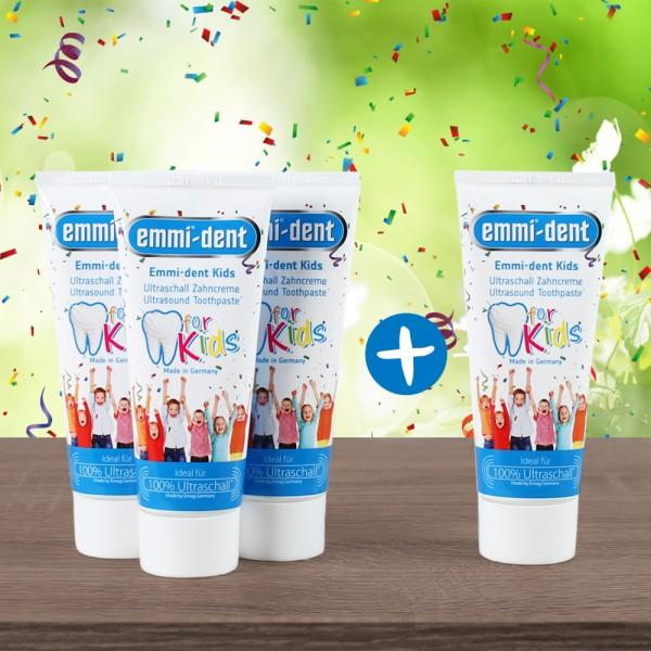 emmi®-dent Kids - Ultraschall Zahncreme für Kinder - 4 für 3 Aktion