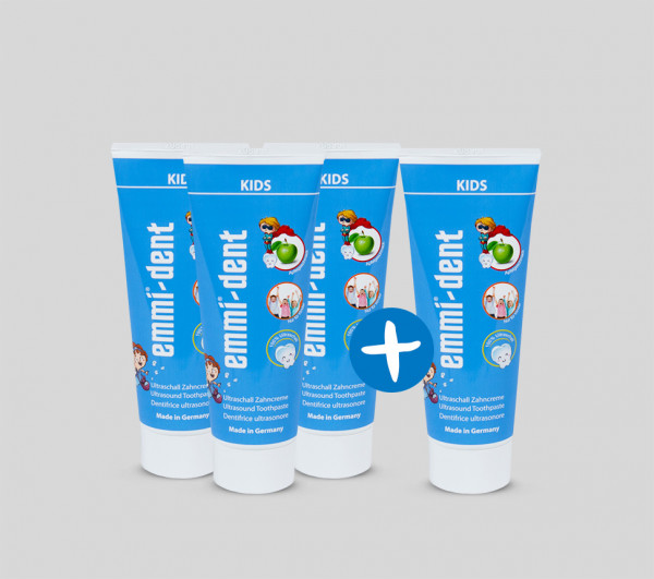 Kids - Ultraschall Zahncreme für Kinder - 4 für 3 Aktion