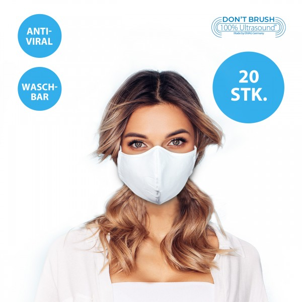 Mund- und Nasenmaske, Behelfsmaske mit Nanosilber *20er-Pack*
