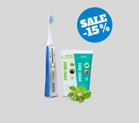 Ultraschallzahnbürste - Platinum Basis Set Natur - Blau