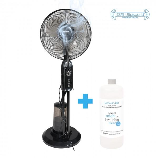 Ultraschall XXL Raumdesinfizierer + 1x Emmi-BioDes Raumdesinfektionskonzentrat