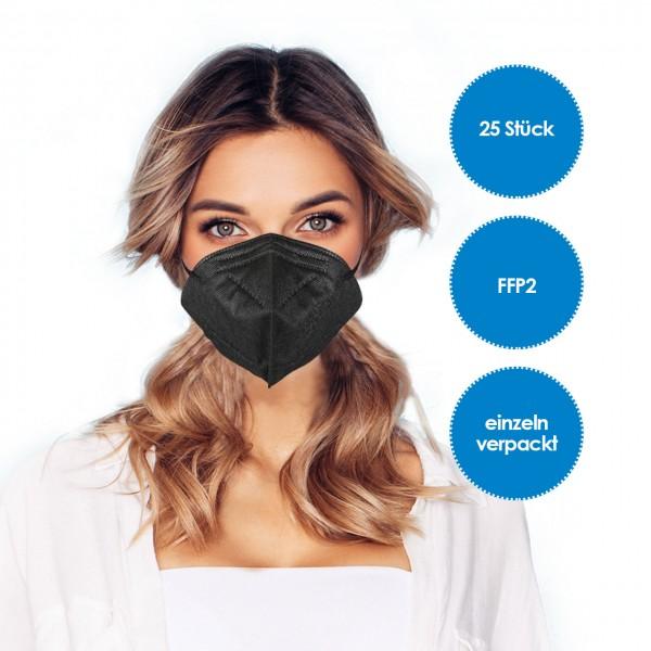 FFP2 Atemschutzmaske 25 Stück schwarz