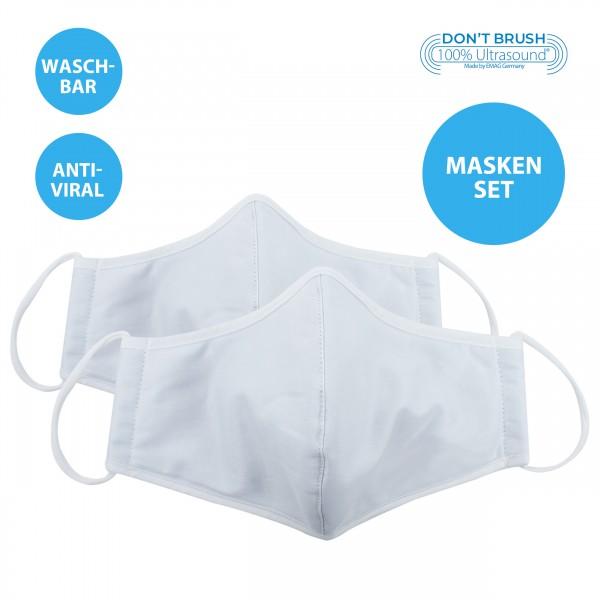 2er-Set Emmi Mund-Nasenmaske, Behelfsmaske mit Nanosilber *waschbar*