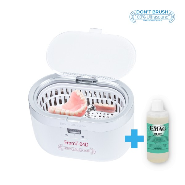 emmi®-04D Ultraschall-Prothesenreiniger mit Edelstahlwanne