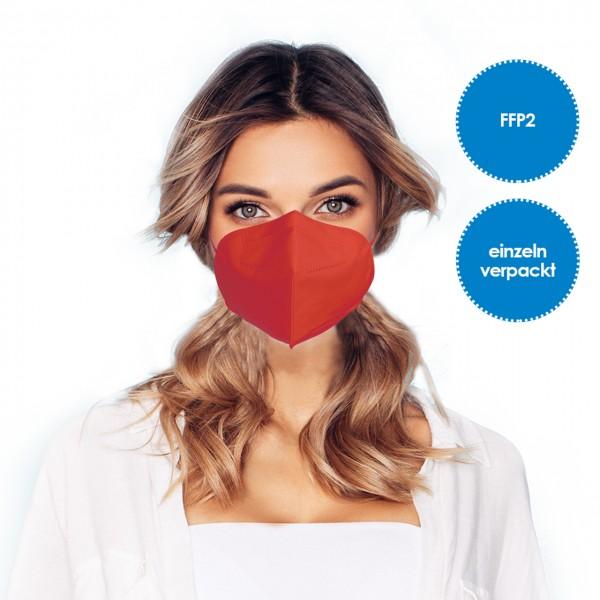 FFP2 Atemschutzmaske 1 Stück *Rot*